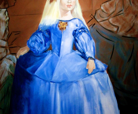 Vestida de azul
